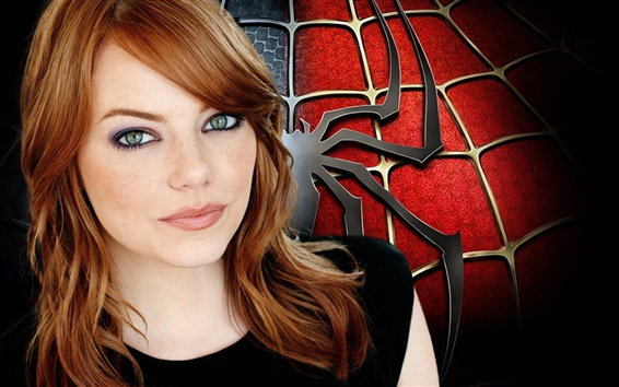 Wallpaper Emma Stone in The Amazing Spider-Man