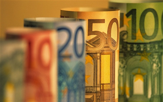 Wallpaper Euro currency macro