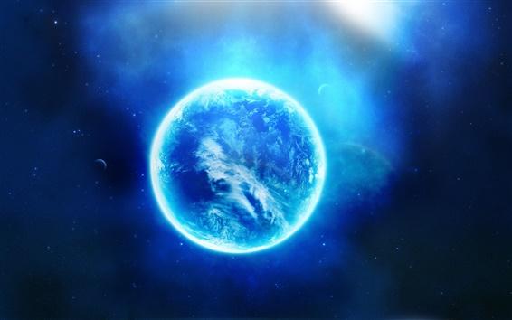 Обои Светится голубой планеты