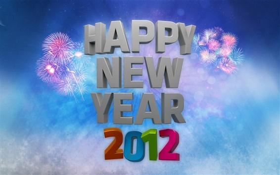 Fond d'écran Happy New Year 2012 Feux d'artifice