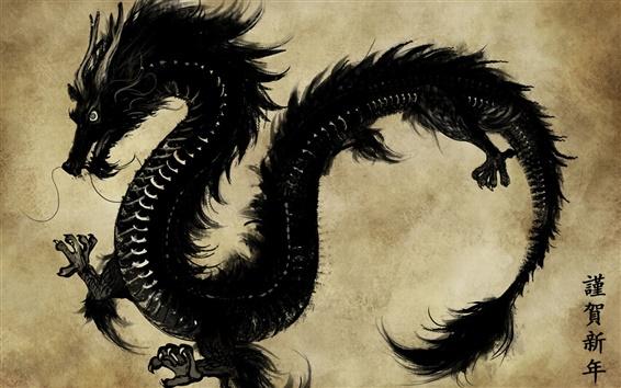 Papéis de Parede Feliz Ano Novo Ano do Dragão