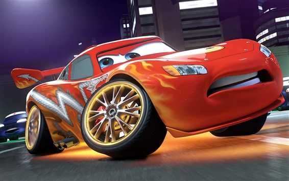 Wallpaper Lightning McQueen in Cars 2