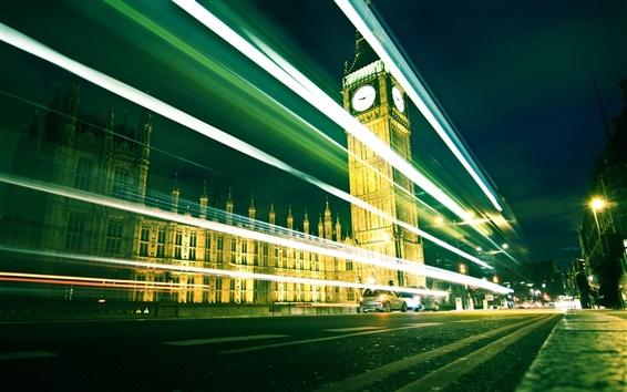 Wallpaper London's Big Ben at night