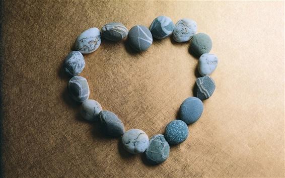 Wallpaper Love heart-shaped stone