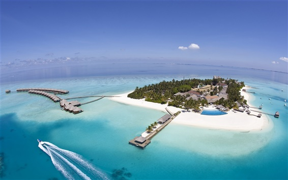 Wallpaper Maldives Seychelles Island