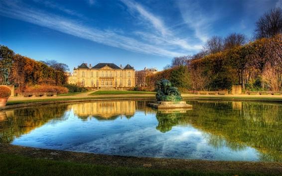 Fondos de pantalla París, Francia, casa solariega del cielo