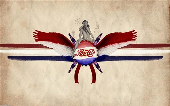 Обои Пепси-кола крылья пить девочка