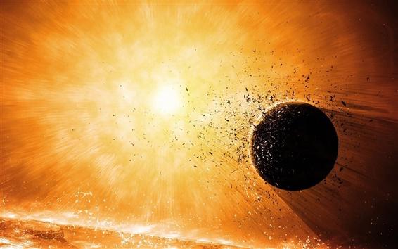 Wallpaper Planet explosion destruction