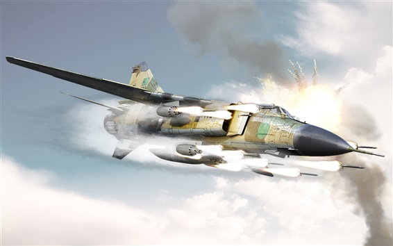 Wallpaper Rocket attack