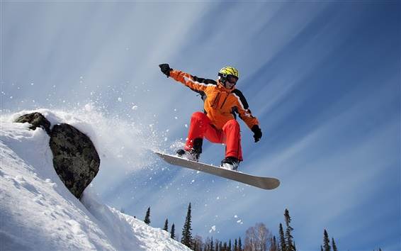 Wallpaper Snow mountain snowboard sport