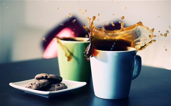 Papéis de Parede Duas xícaras de chá de abertura