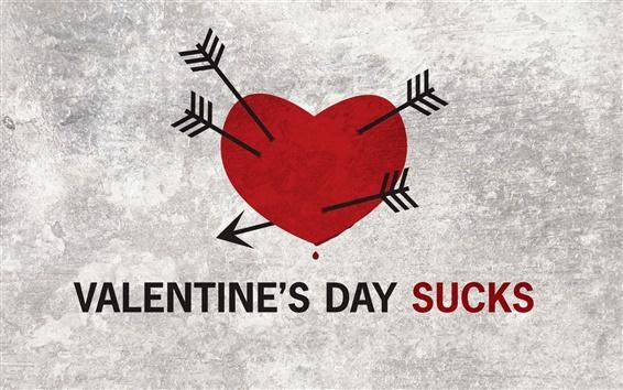 Wallpaper Valentine's Day Sucks