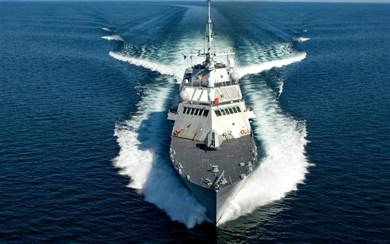 Wallpaper Warship at sea