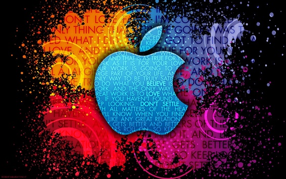 Wallpaper Apple Colorful background creative logo