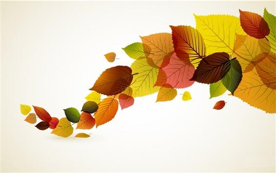 Fond d'écran Autumn leaves vecteur de création