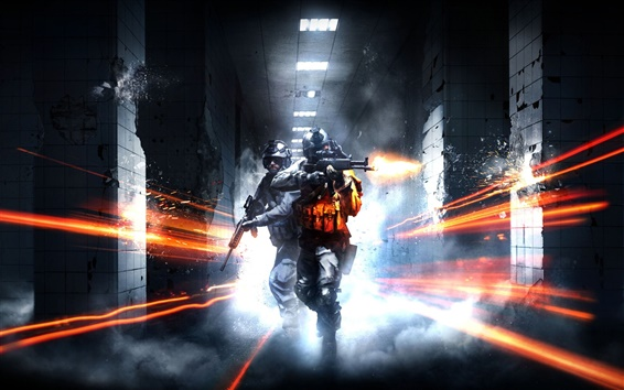 Wallpaper Battlefield 3 shooting