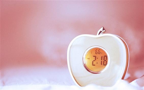 Wallpaper Beautiful apple clock