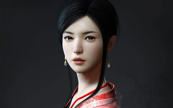 Wallpaper Beautiful girl in ancient China