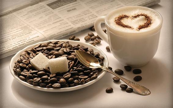 배경 화면 카푸치노 커피