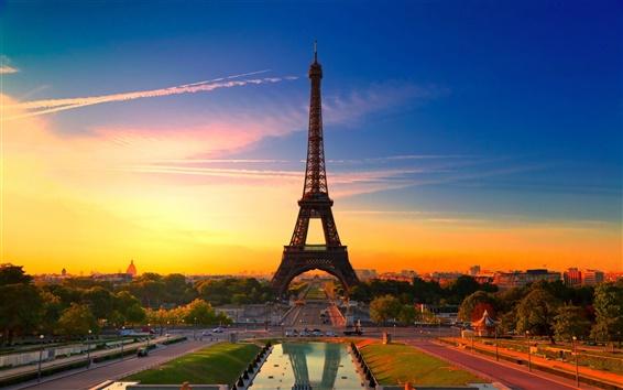 Wallpaper City of Paris France, Eiffel Tower