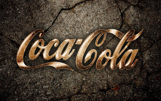 Wallpaper Coca-Cola creative logo