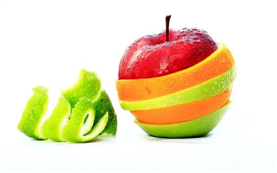 壁紙 リンゴ果皮色のカラフルな