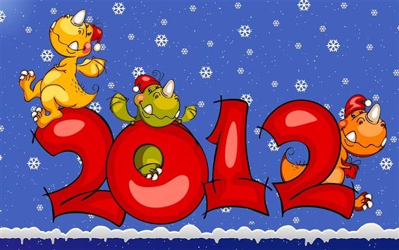 Wallpaper Dinosaur Happy 2012
