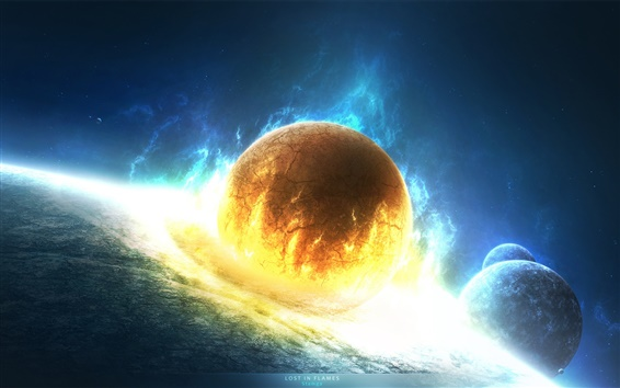 Wallpaper Disaster doomsday planet collision