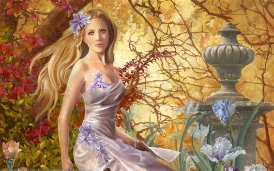 Обои Фантазия Девушка в парке