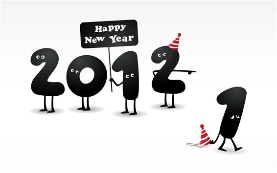 Обои С Новым Годом 2012, 2011 закончилась