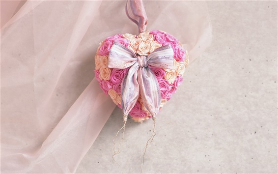 Wallpaper Heart-shaped flowers craft