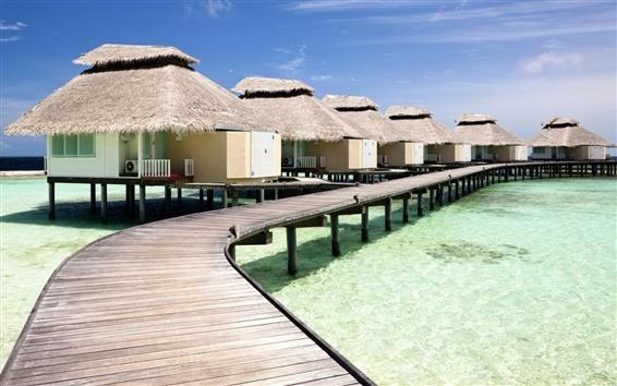 壁紙 住宅海水熱帯の夏のリゾート