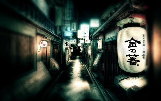 Wallpaper Japan street lights