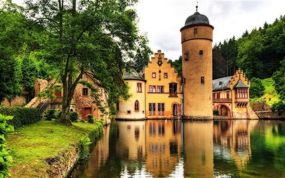 Обои Lakeside замок
