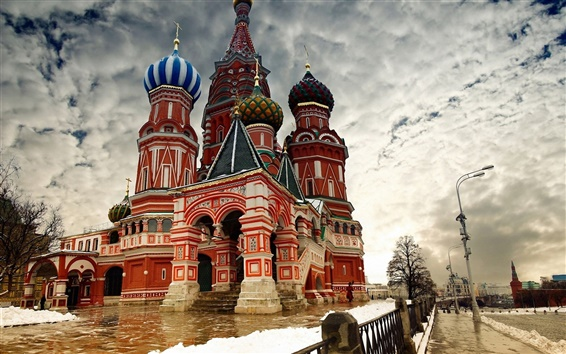 Wallpaper Moscow snow winter