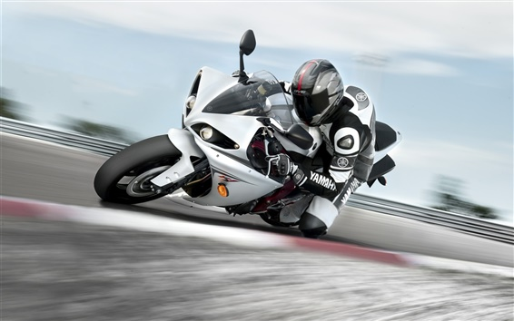 Wallpaper Motorcycle driving fast