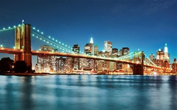 Wallpaper Night illumination of the bridge