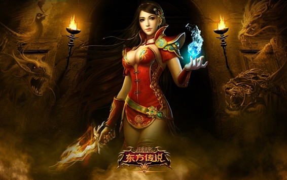 Wallpaper Oriental legend of the game beautiful girl