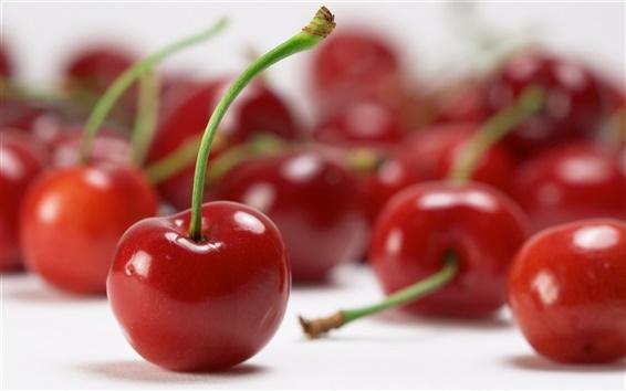 Wallpaper Red cherries close-up