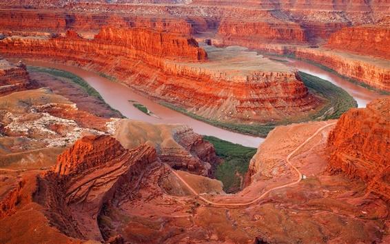 Wallpaper Red desert rocks landscape