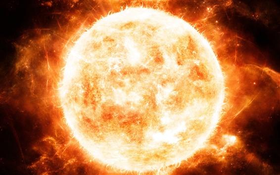 배경 화면 레드 뜨거운 태양 근접