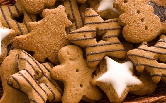 Fond d'écran les cookies de forme étoiles
