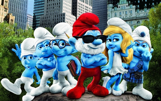 Wallpaper The Smurfs wide