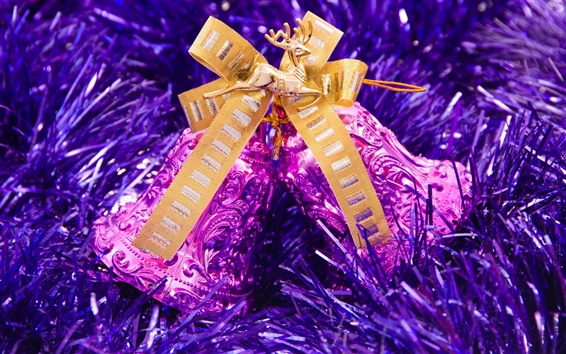 Fondos de pantalla Las campanas de la púrpura de la Navidad
