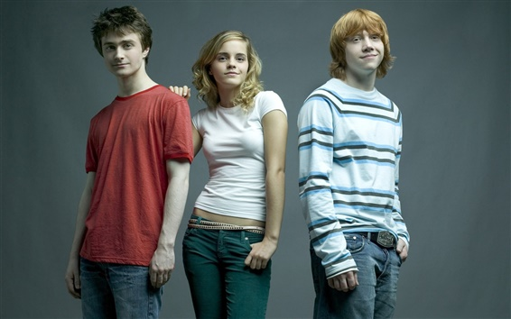 Wallpaper Three main actors of Harry Potter