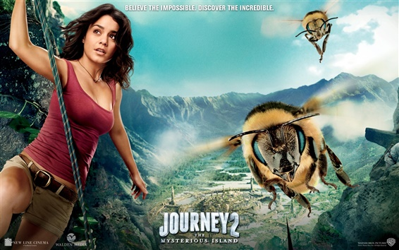 Wallpaper Vanessa Hudgens in Journey 2: The Mysterious Island