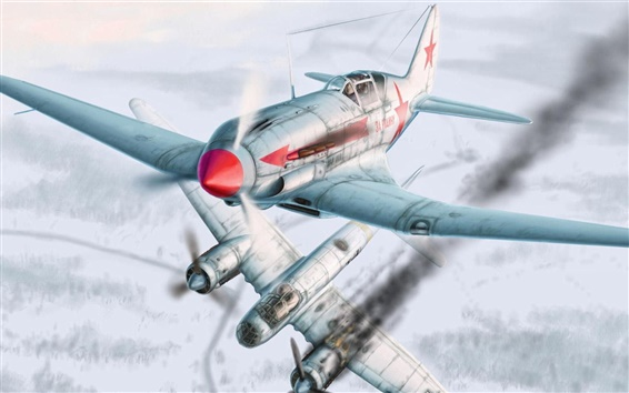 Wallpaper Winter aircraft air combat