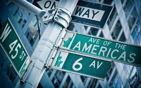 Fondos de pantalla Puntero de las carreteras de Estados Unidos
