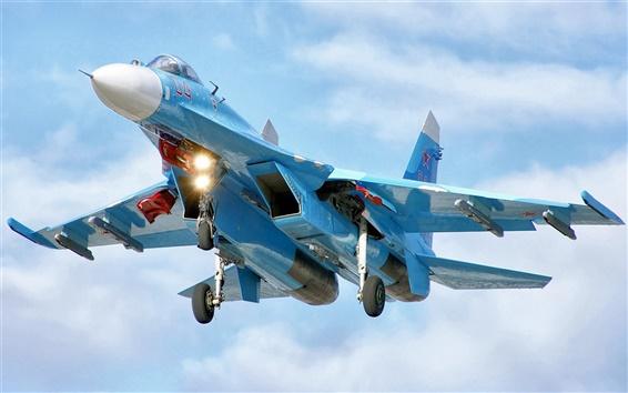 Wallpaper Blue fighter flight