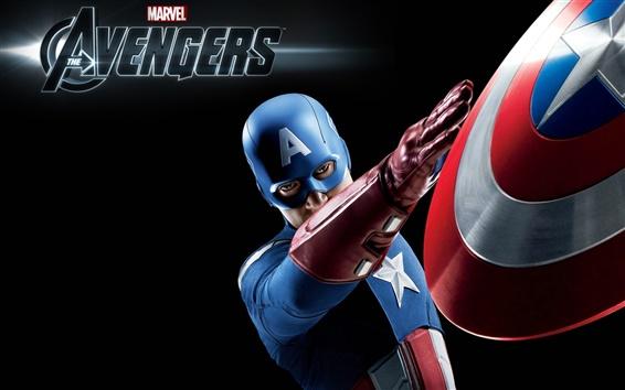 Wallpaper Captain America in The Avengers